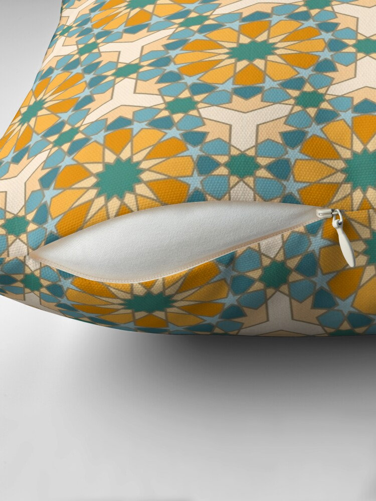 Alternate view of Geometric Pattern: Arabic Tiles: Lily Throw Pillow
