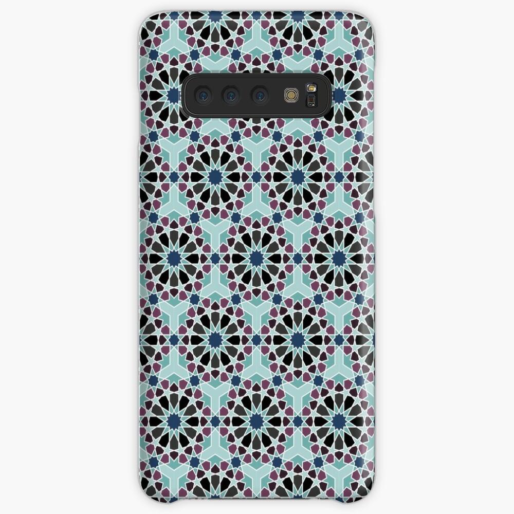 Geometric Pattern: Arabic Tiles: Midnight Case & Skin for Samsung Galaxy