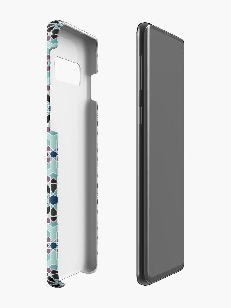 Alternate view of Geometric Pattern: Arabic Tiles: Midnight Case & Skin for Samsung Galaxy