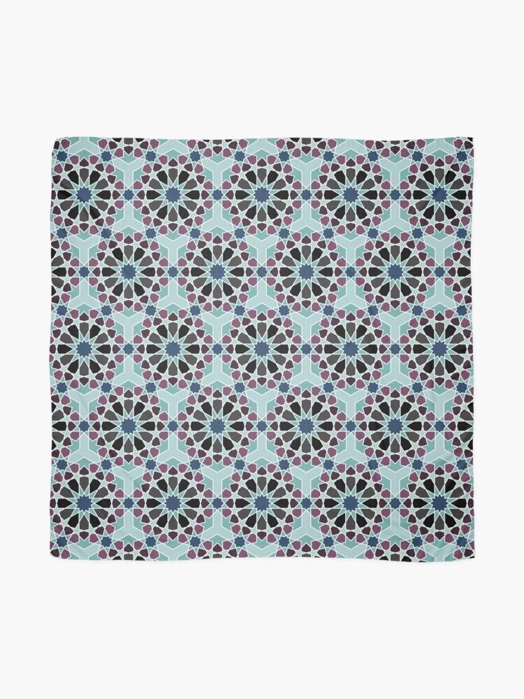 Alternate view of Geometric Pattern: Arabic Tiles: Midnight Scarf
