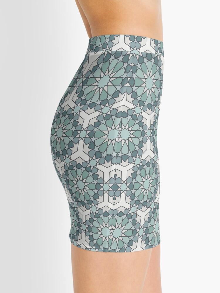 Alternate view of Geometric Pattern: Arabic Tiles: Seafoam Mini Skirt