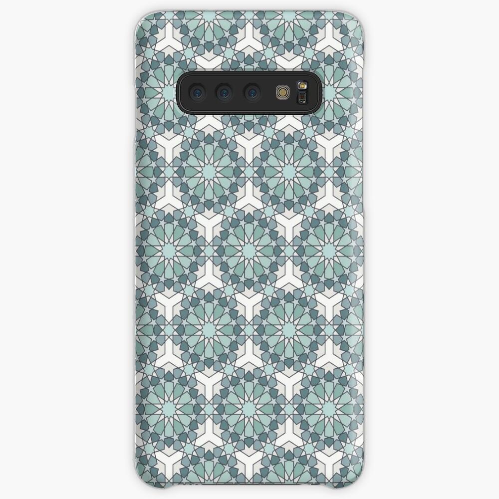 Geometric Pattern: Arabic Tiles: Seafoam Case & Skin for Samsung Galaxy
