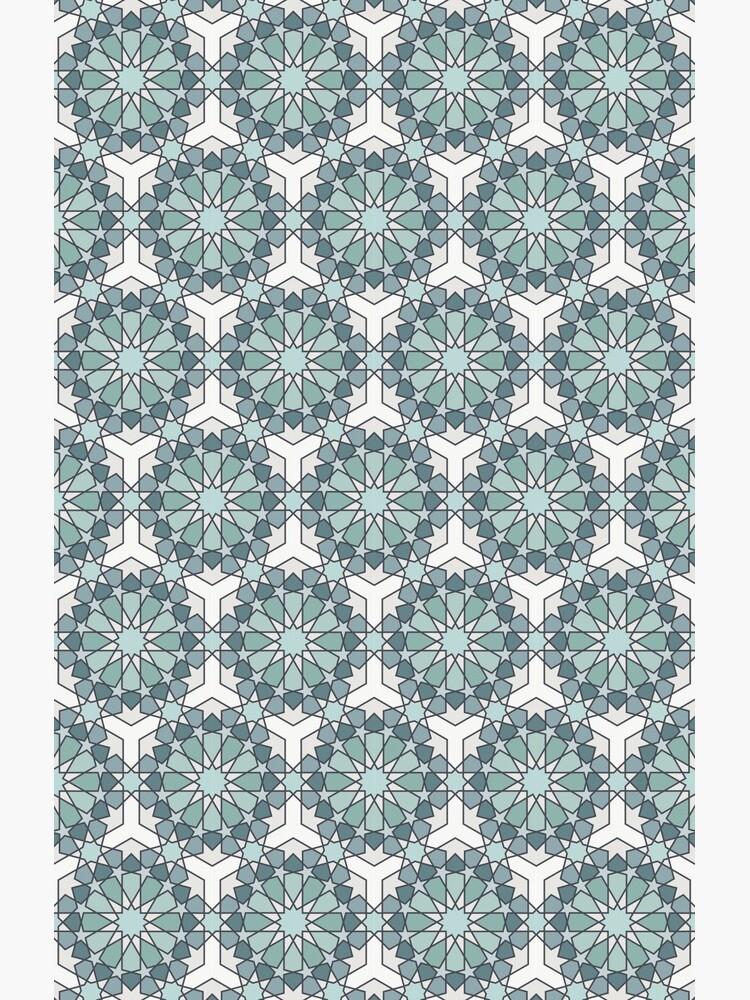 Geometric Pattern: Arabic Tiles: Seafoam by redwolfoz