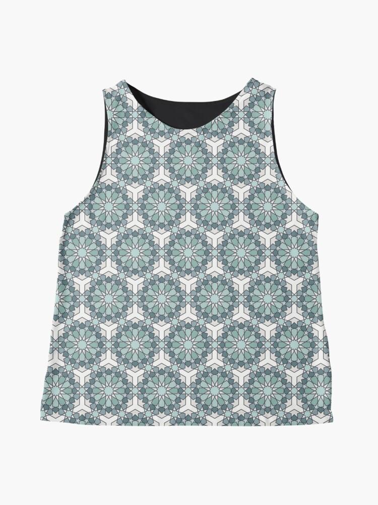 Alternate view of Geometric Pattern: Arabic Tiles: Seafoam Sleeveless Top