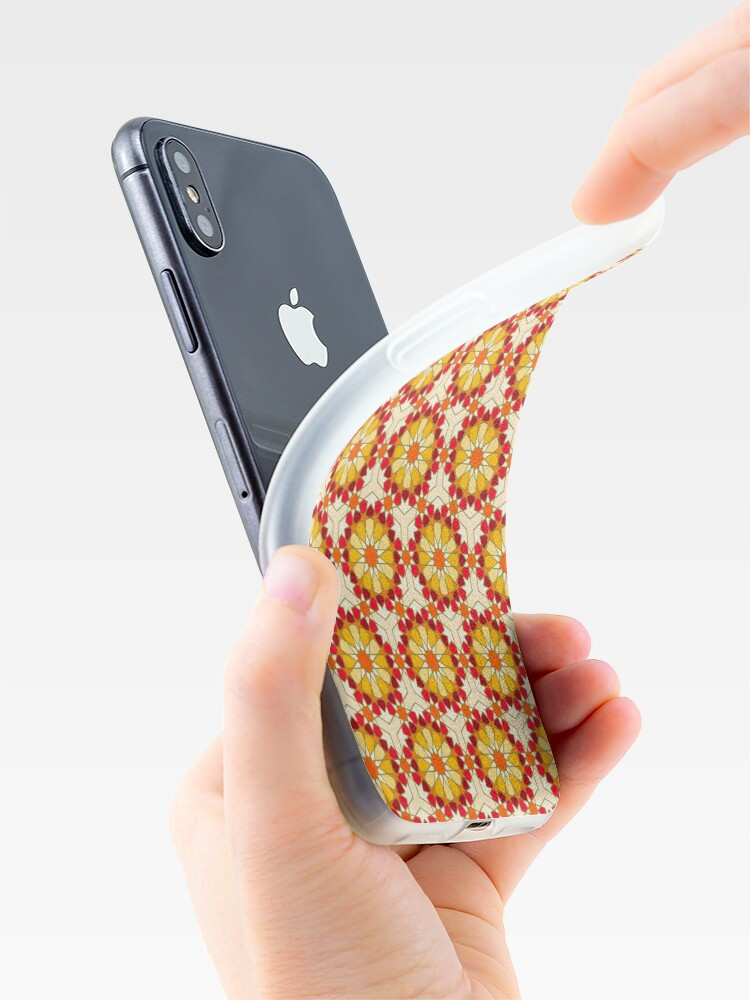 Alternate view of Geometric Pattern: Arabic Tiles: Sunset iPhone Case & Cover