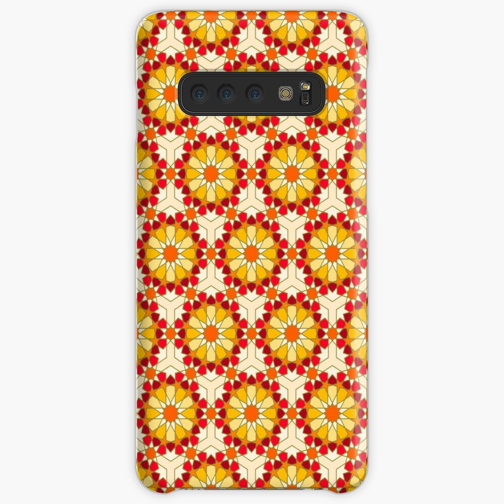 Geometric Pattern: Arabic Tiles: Sunset Case & Skin for Samsung Galaxy