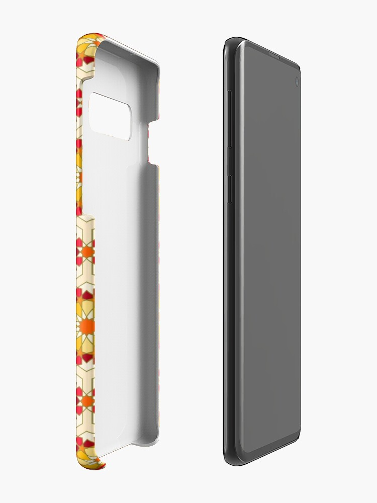Alternate view of Geometric Pattern: Arabic Tiles: Sunset Case & Skin for Samsung Galaxy