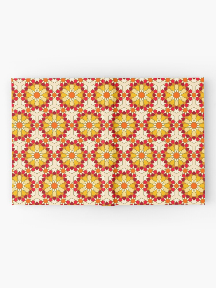 Alternate view of Geometric Pattern: Arabic Tiles: Sunset Hardcover Journal