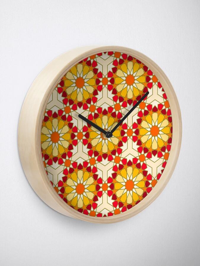 Alternate view of Geometric Pattern: Arabic Tiles: Sunset Clock