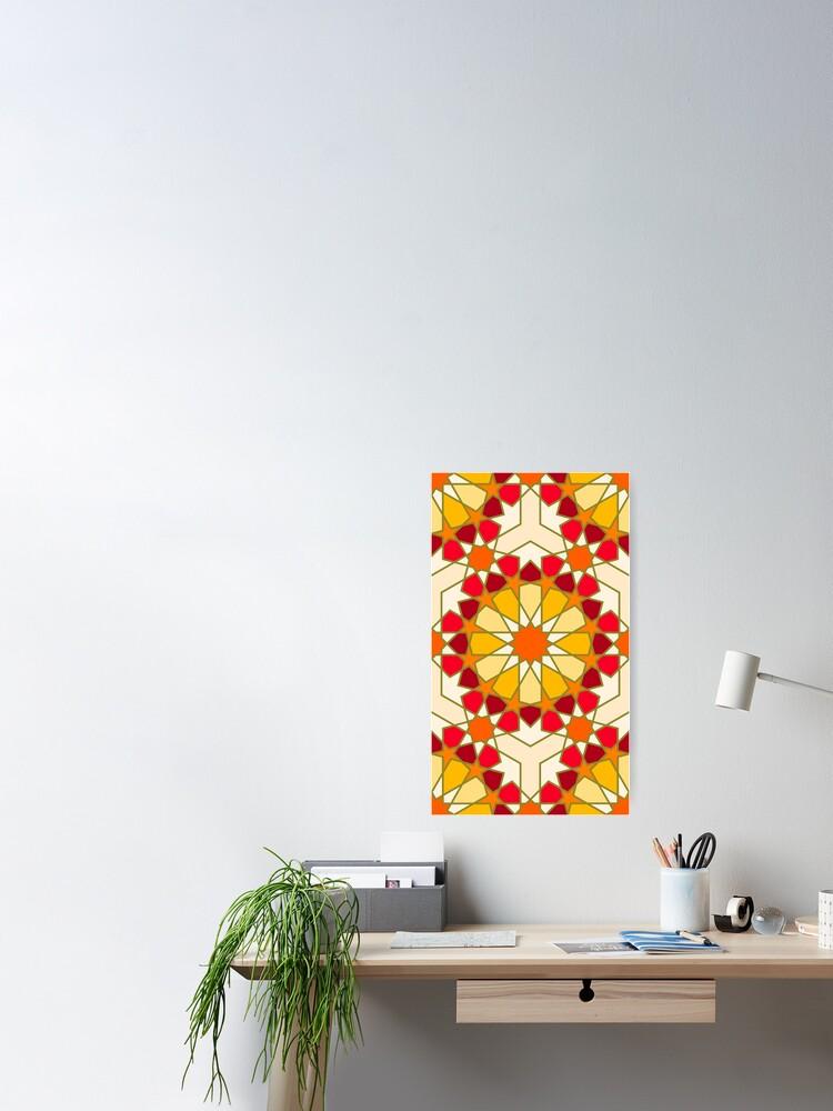 Alternate view of Geometric Pattern: Arabic Tiles: Sunset Poster