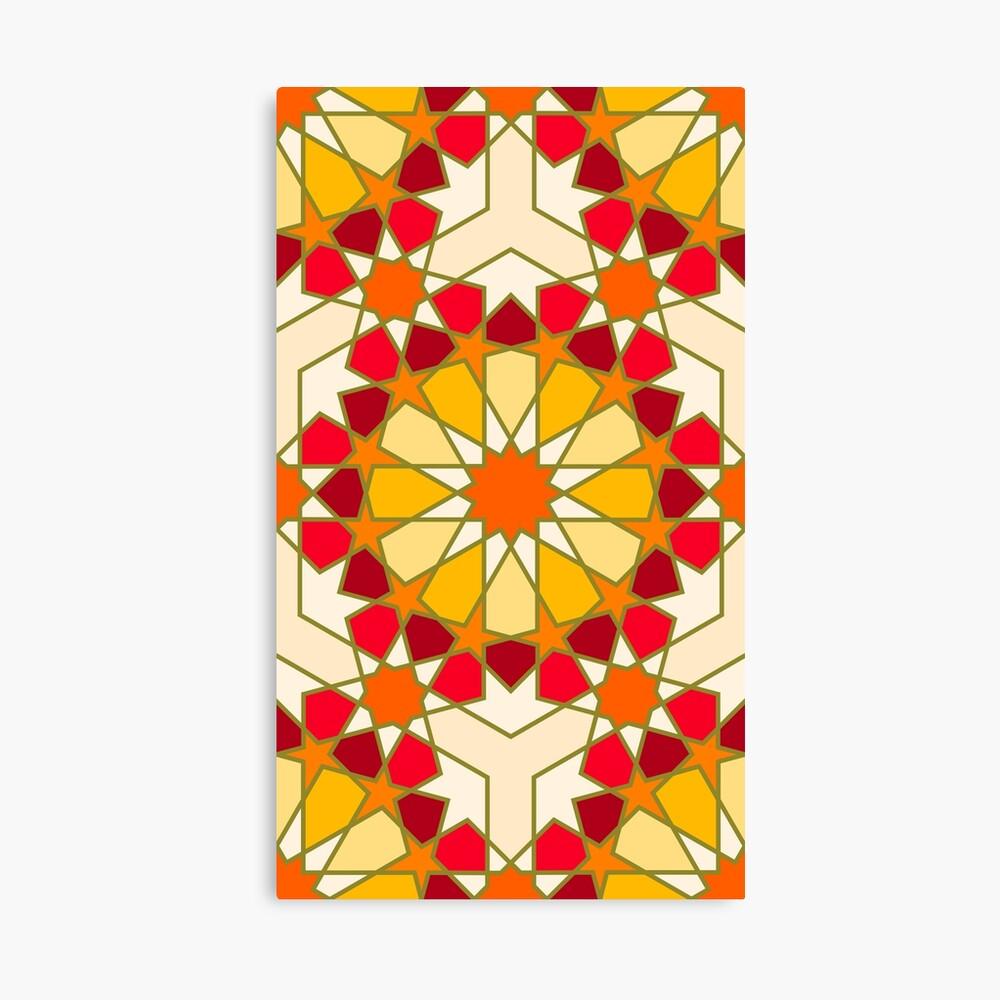 Geometric Pattern: Arabic Tiles: Sunset Canvas Print