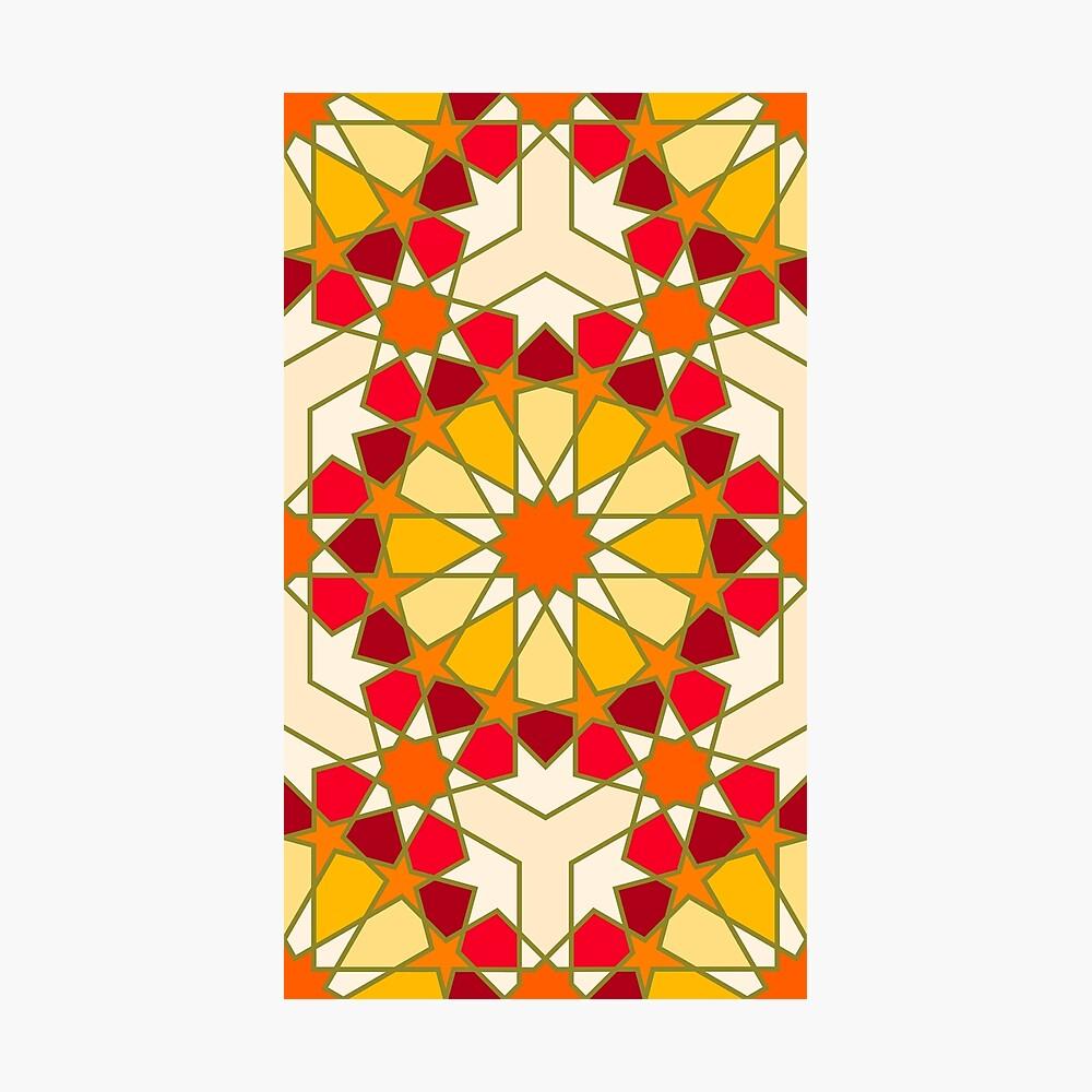 Geometric Pattern: Arabic Tiles: Sunset Photographic Print