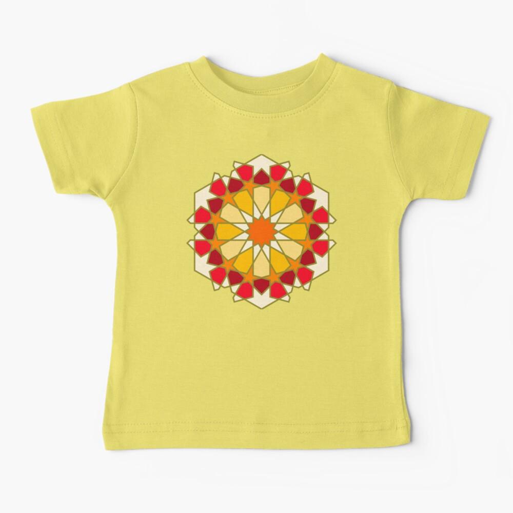 Geometric Pattern: Arabic Tiles: Sunset Baby T-Shirt