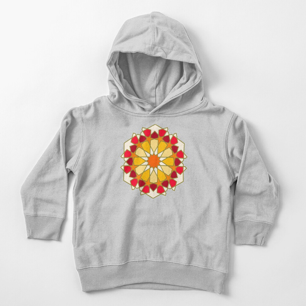 Geometric Pattern: Arabic Tiles: Sunset Toddler Pullover Hoodie