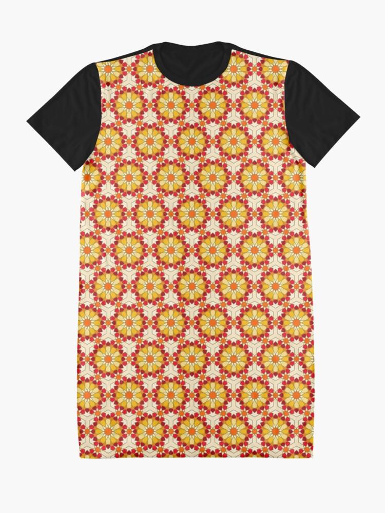 Alternate view of Geometric Pattern: Arabic Tiles: Sunset Graphic T-Shirt Dress