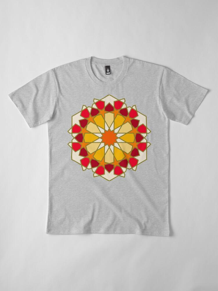 Alternate view of Geometric Pattern: Arabic Tiles: Sunset Premium T-Shirt