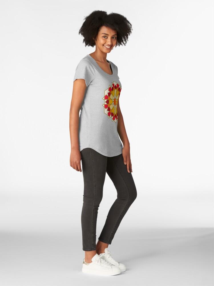 Alternate view of Geometric Pattern: Arabic Tiles: Sunset Premium Scoop T-Shirt
