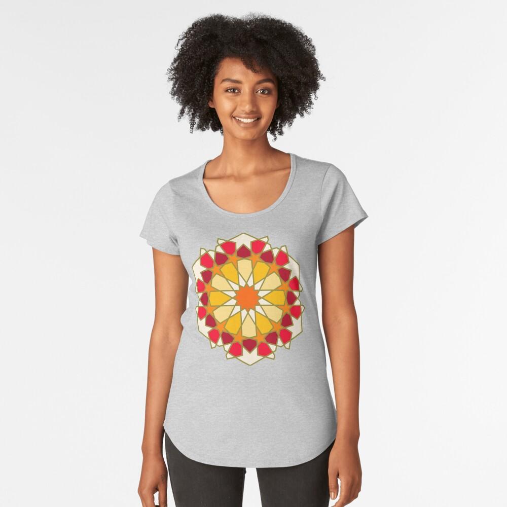 Geometric Pattern: Arabic Tiles: Sunset Premium Scoop T-Shirt