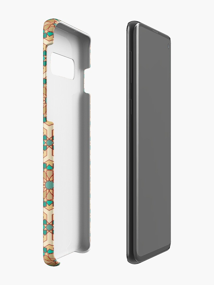 Alternate view of Geometric Pattern: Arabic Tiles: Turquoise Case & Skin for Samsung Galaxy