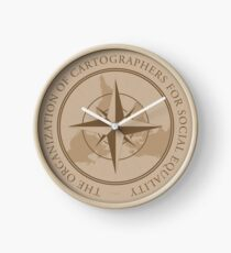 The Organization of Cartographers for Social Equality Clock