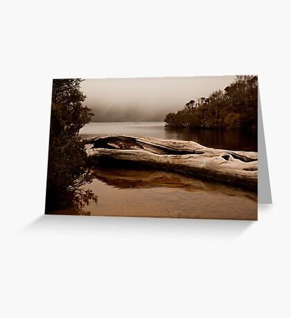 Mist Over Crater Lake Greeting Card