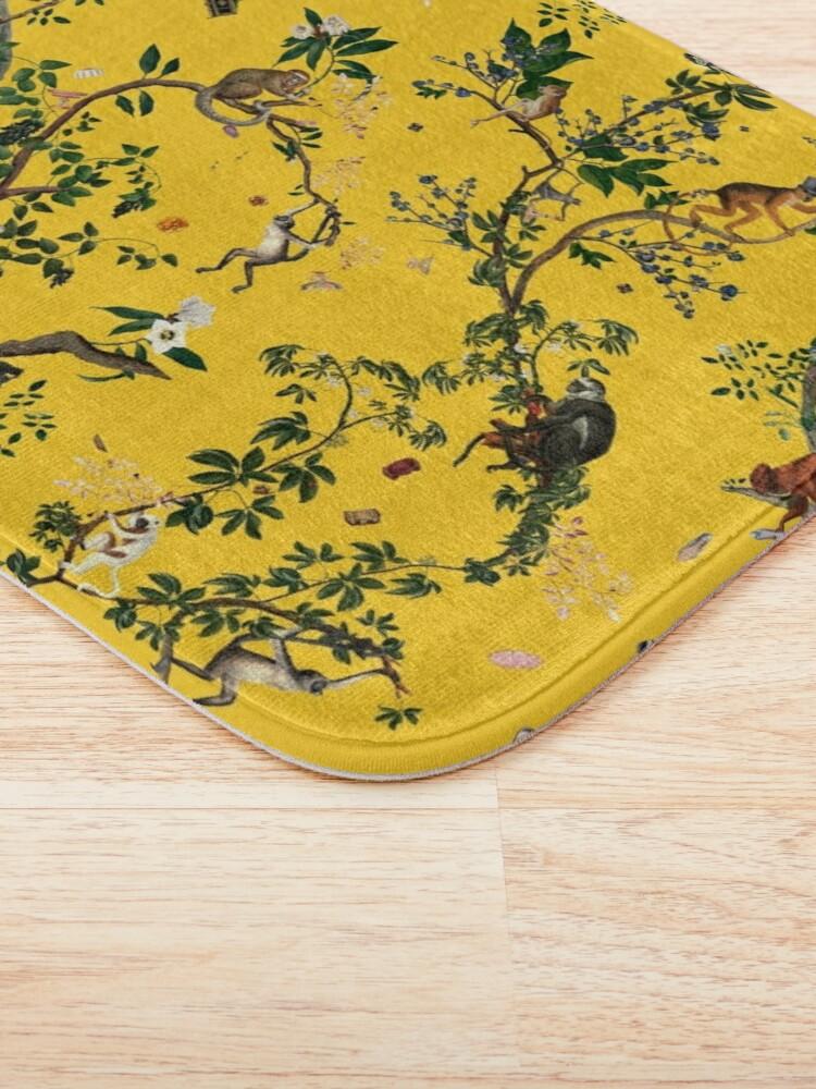 Alternate view of Monkey World Yellow Bath Mat