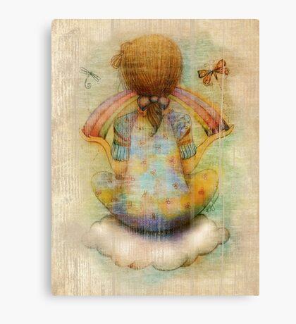 once upon a rainbow Canvas Print