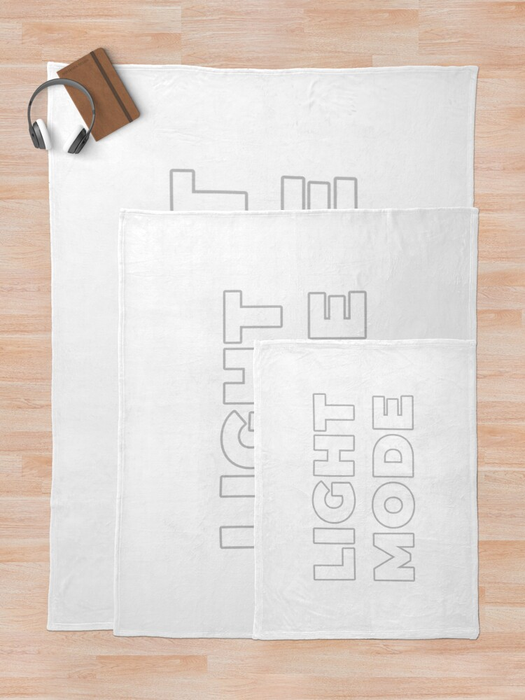 Alternate view of Light Mode Throw Blanket