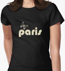 paris beige Womens Fitted T-Shirt