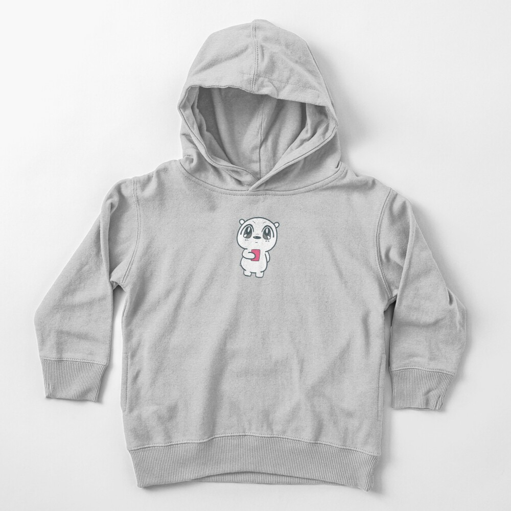 Cute We Bare Bears  ice bear anime style Illustration Toddler Pullover Hoodie