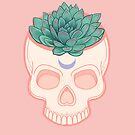 Skull Succulent - green by Wendy-Stephens
