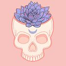 Skull Succulent - lilac by Wendy-Stephens