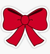 Red bow Sticker