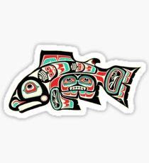 Alaskan Salmon Sticker