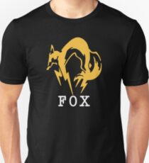 Metal Gear Solid - FOX +text Unisex T-Shirt