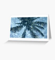 palm tree reflection Greeting Card