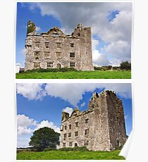 This is Leamanagh Castle between Corofin and Kilfenora , County Clare, Ireland. Poster