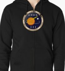 Ares 3 mission to Mars - The Martian Zipped Hoodie