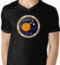 Ares 3 mission to Mars - The Martian Men's V-Neck T-Shirt