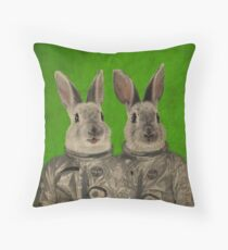 We are ready green Throw Pillow