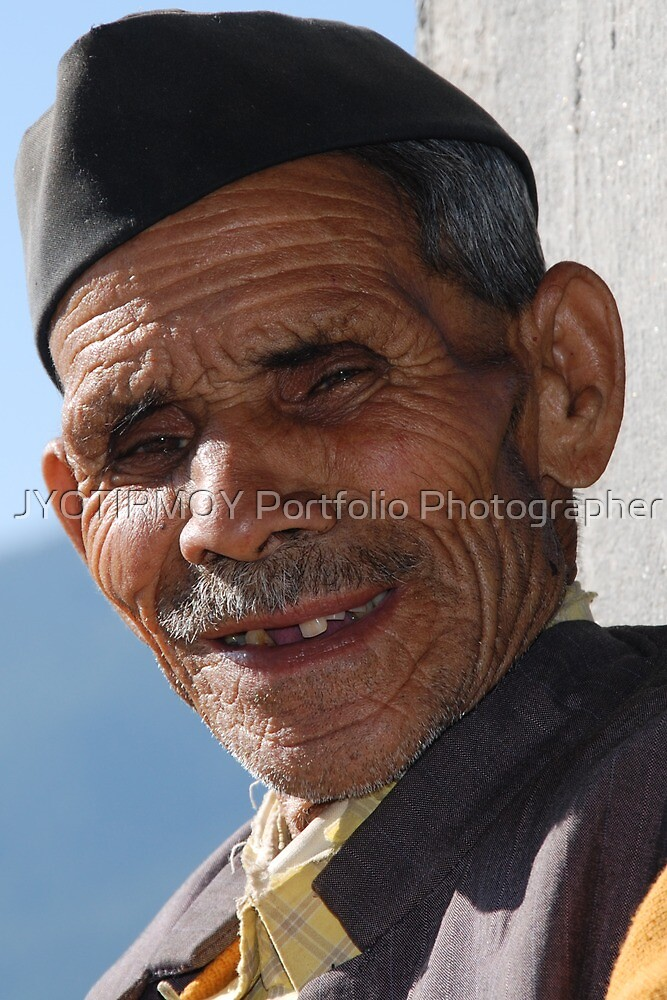 The Old Man at Deoriatal  by JYOTIRMOY Portfolio Photographer
