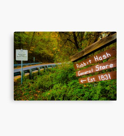 This Way to Rabbit Hash Canvas Print