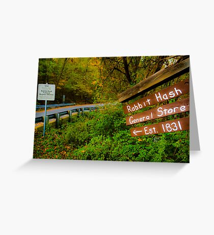 This Way to Rabbit Hash Greeting Card