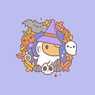 Bubu the Guinea pig, Witchy Wreath by Miri-Noristudio