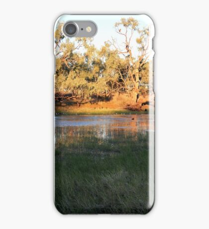 Early morning Camooweal Billabong Queensland iPhone Case/Skin