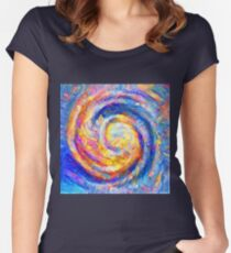 Abstract segmentation of phoenix Fitted Scoop T-Shirt