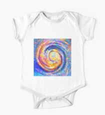 Abstract segmentation of phoenix Short Sleeve Baby One-Piece