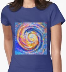 Abstract segmentation of phoenix Fitted T-Shirt