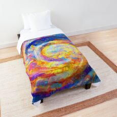 Abstract segmentation of phoenix Comforter