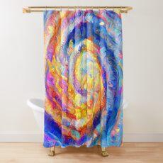 Abstract segmentation of phoenix Shower Curtain